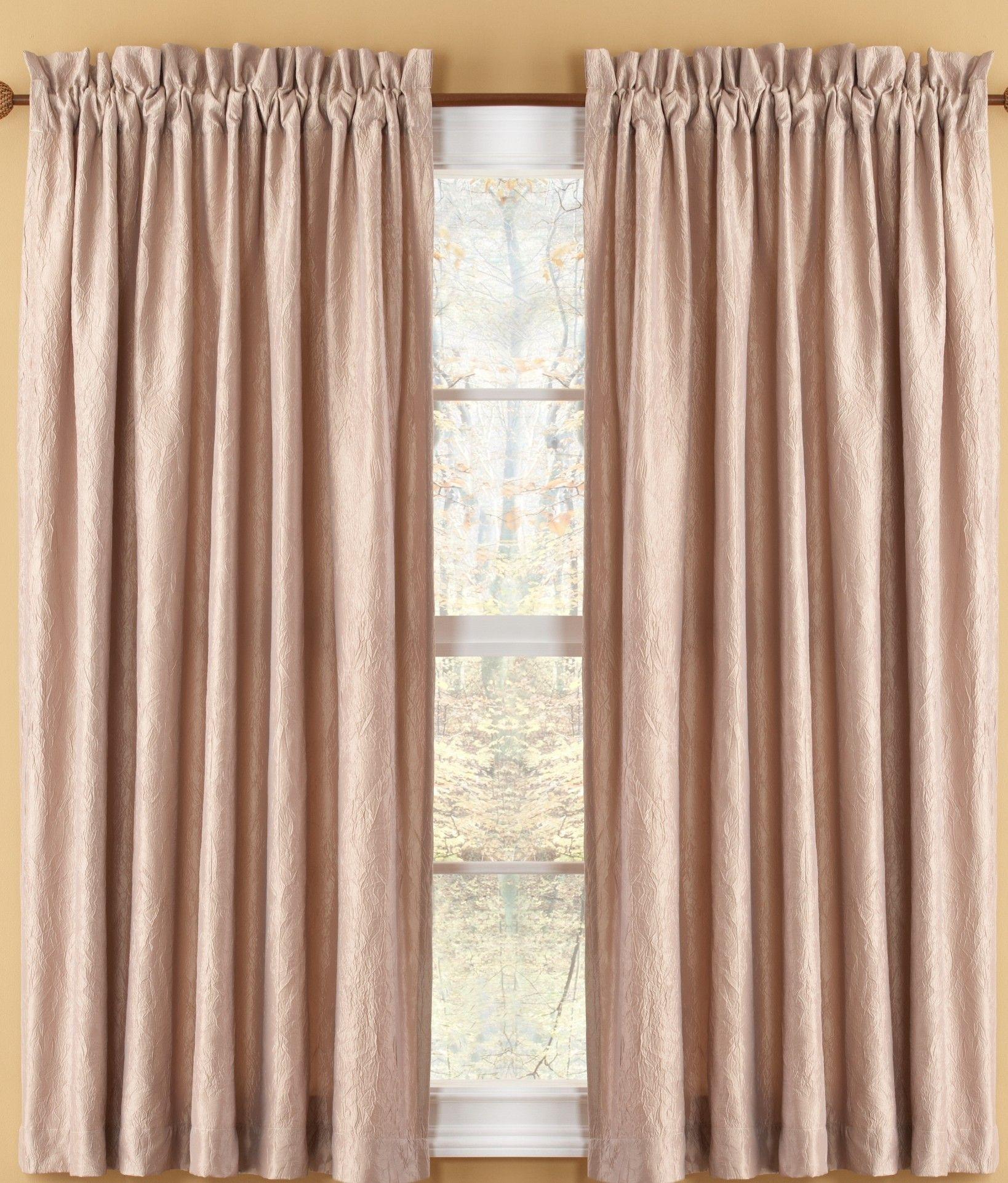 Aretha Crushed Solid Semi Sheer Rod Pocket Curtain Panels