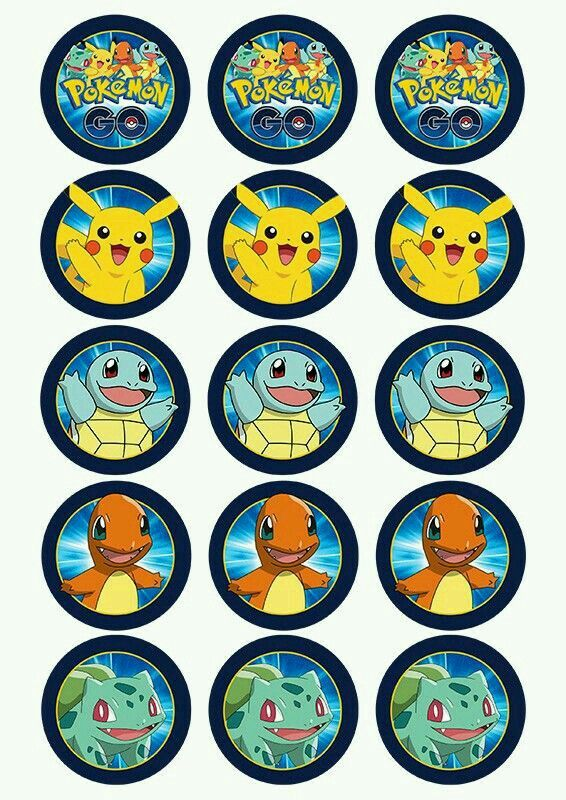 Remarkable image pertaining to pokemon cupcake toppers printable