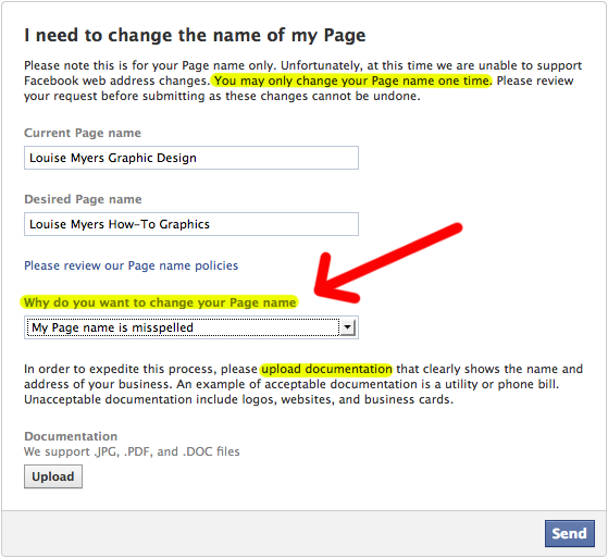 How To Change Your Facebook Page Name   Facebook
