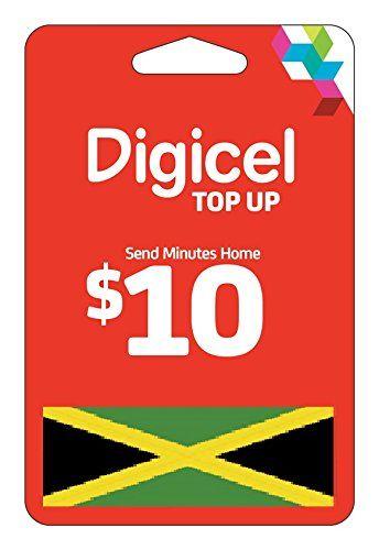 Digicel USD 10 Top up Recharge for Digicel Jamaica