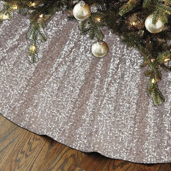 Sequin Tree Skirt Champagne Sequin Tree Skirt 48 Quot Christmas Tree Skirt Unique Sparkly Glitter Christmas Tree Skirt Xmas Tree Skirts Holiday Christmas Tree