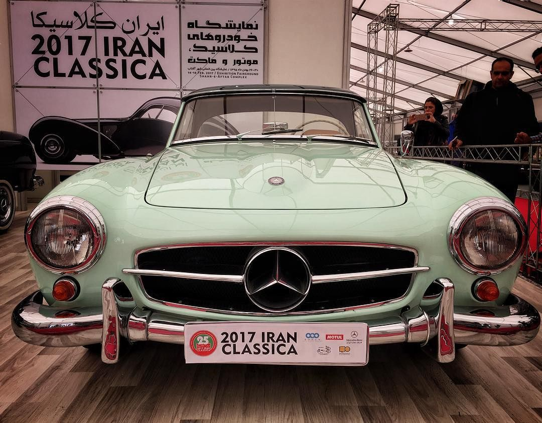 Mercedes Benz #190SL at the 2017 Iran Classica in Tehran (via instagram) / #BruceAdams190SL #190SLRestorations