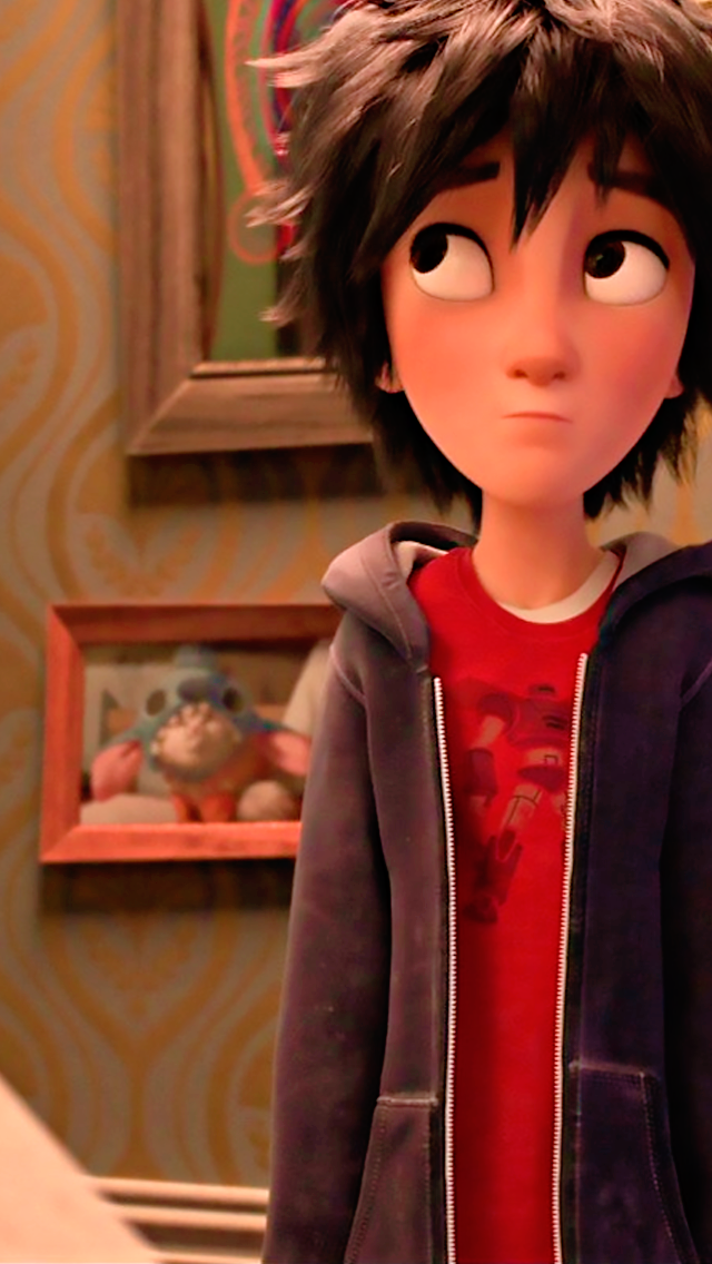 Best face in the movie... This pitcher... It shows how AWESOME the graphics are. HIRO LOOKS SORTA ANIME IN THAT!! That real looking anime. That's why I wanted to watch Big hero 6. Cause it looked like that realistic anime