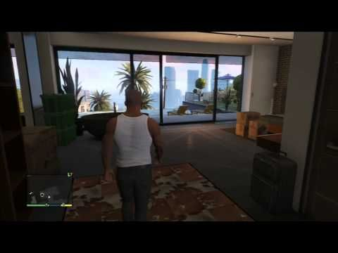 GTA 5 - Franklin's New House: Pool, Fireplace, Telescope - Grand