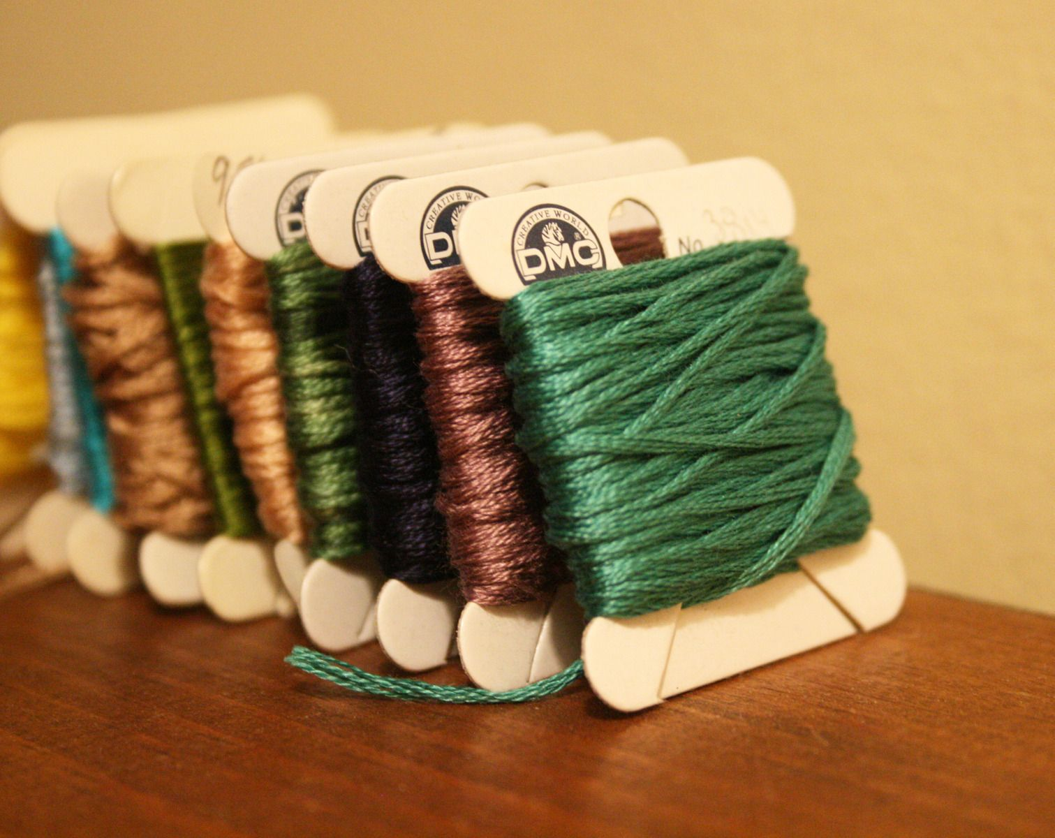 <p>You will need embroidery floss or thread before getting started. These are fun to pick out as they come in a variety of colors!</p>