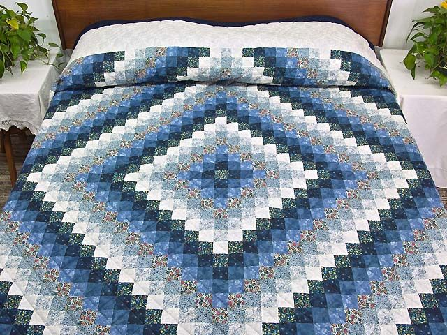 Trip Around the World Quilt -- terrific well made Amish Quilts from Lancaster (hs5151)