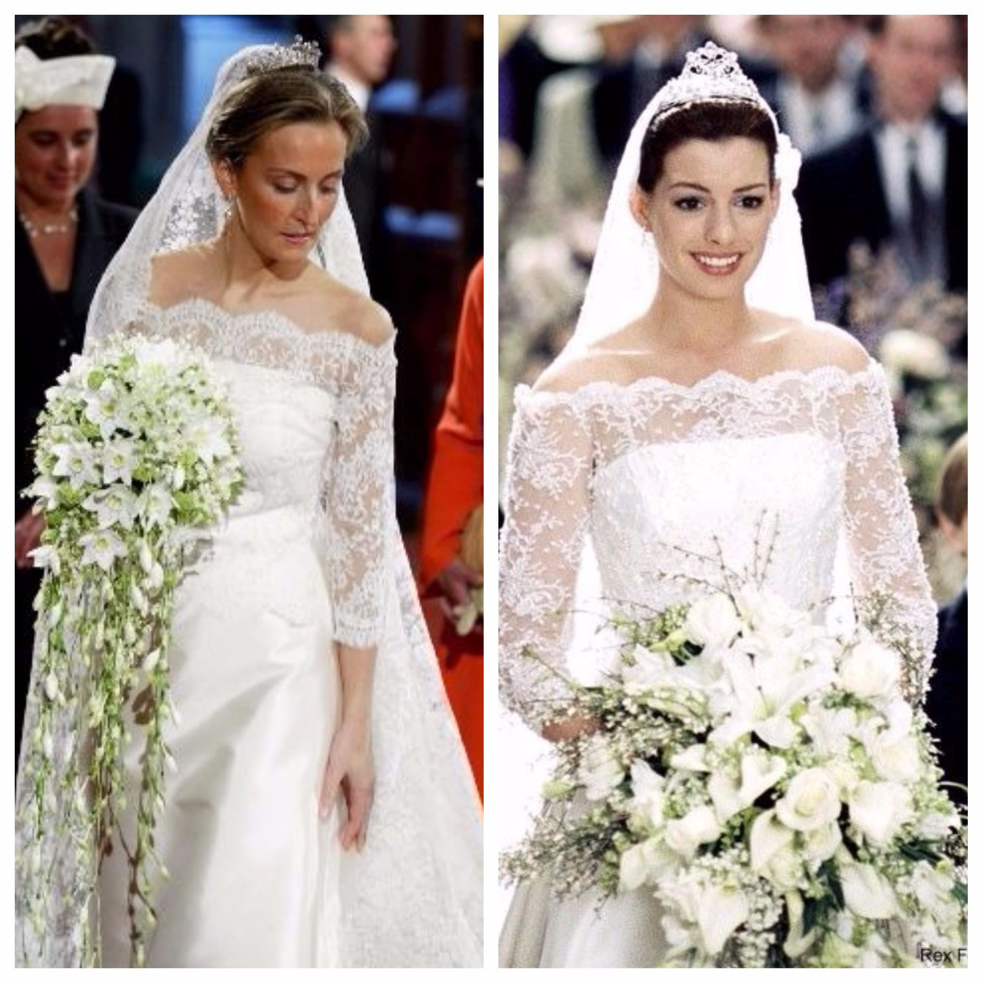 Princess Claire of Belgium at her 2003 Wedding in a dress