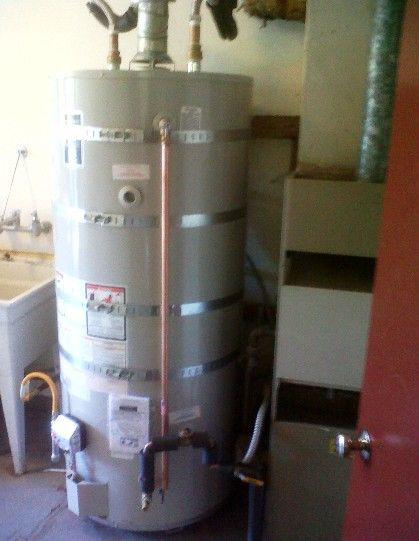 Super Sweet 100 Gallon Gas Waterheater A Recirculation Pump For Instant Hot Water Air Pondok Mandir