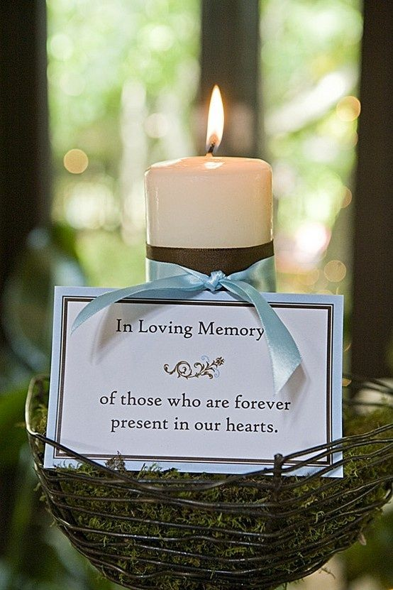In Loving Memory Candle For Weddings