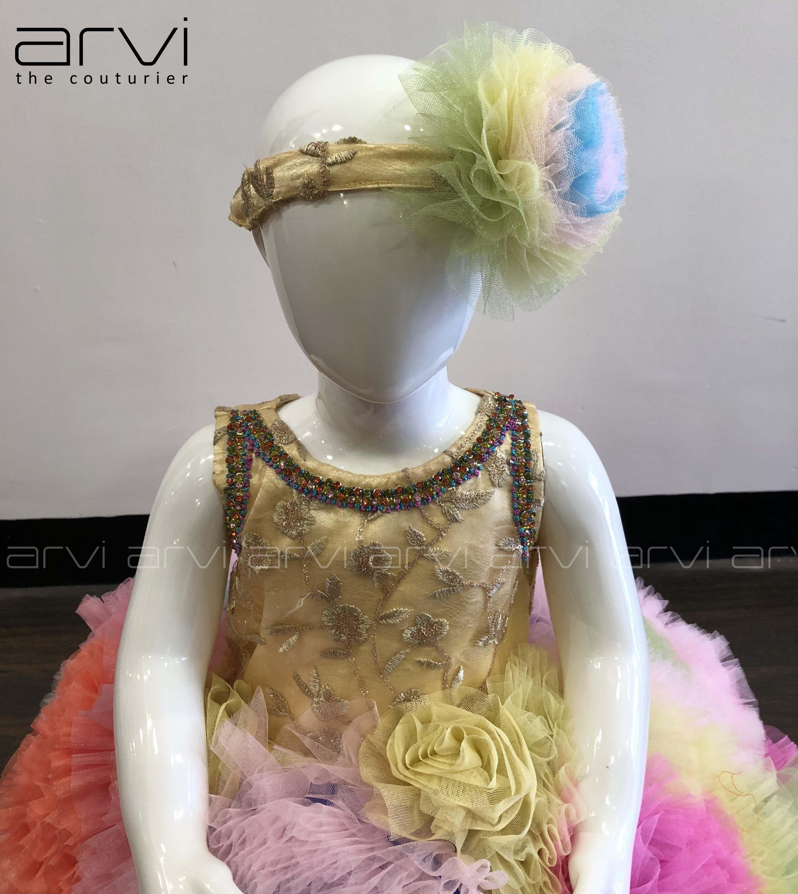 Sale One Year Kid Frock With Free Headband To Buy Contact 8098818882 0422 4347646 Kid Kidfrock Oneyearki Ladies Boutique Free Headband Fashion Design