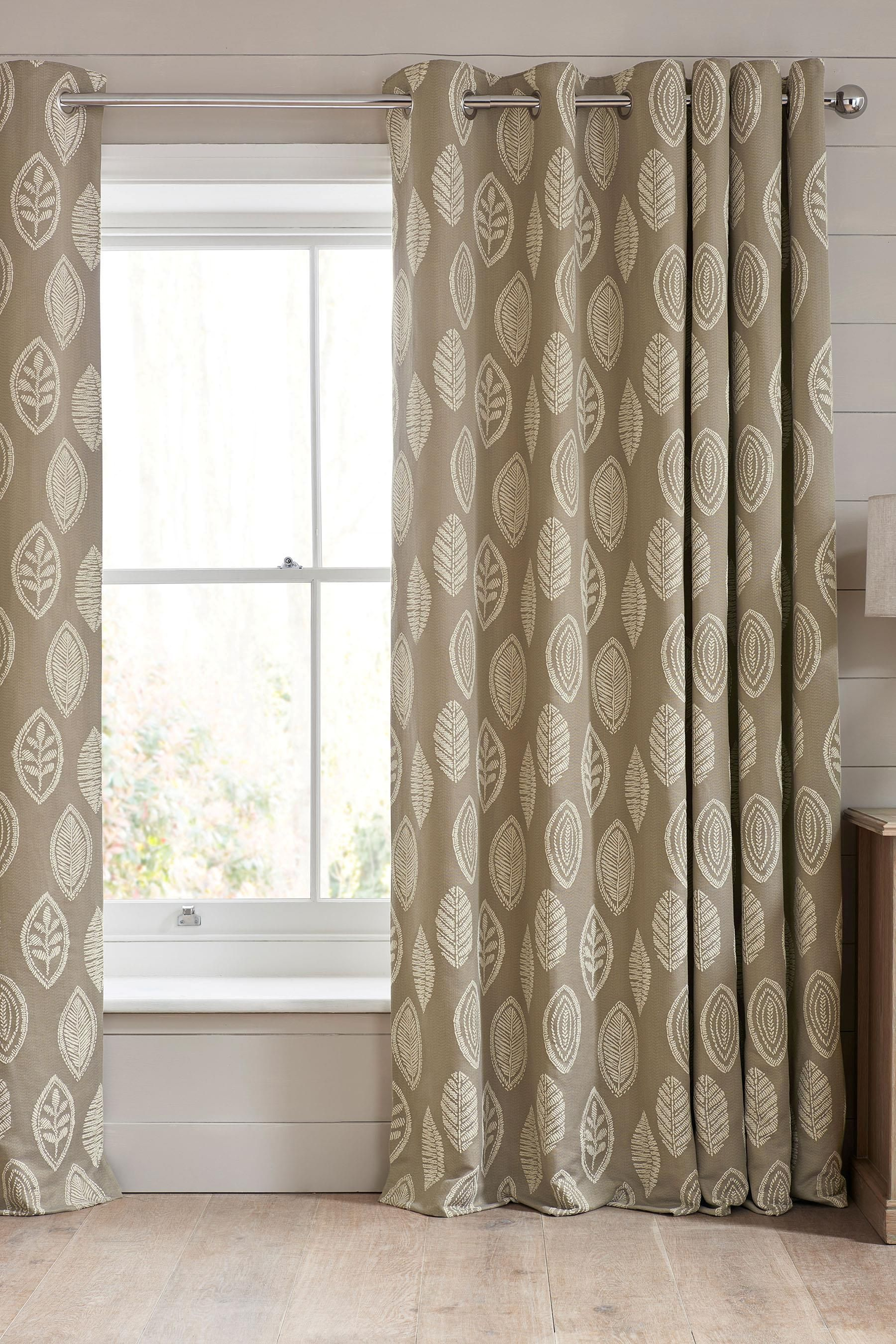 Woven buy woven leaf jacquard eyelet curtains from the next uk
