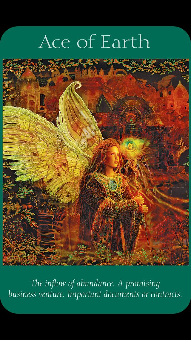 Ace of Earth (Pentacles)- Angel Tarot by Doreen Virtue and Radleigh Valentine