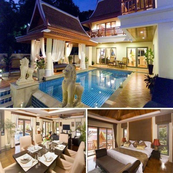 タイ 一軒家 ベッドルーム2つ バスルーム3つ 庭 プール付き