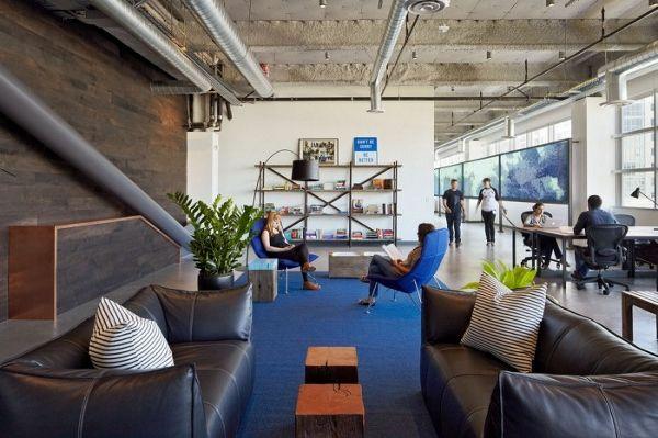 industrial modern office. Inside Dropbox\u0027s Freshly Designed Office Space In San Francisco Industrial Modern