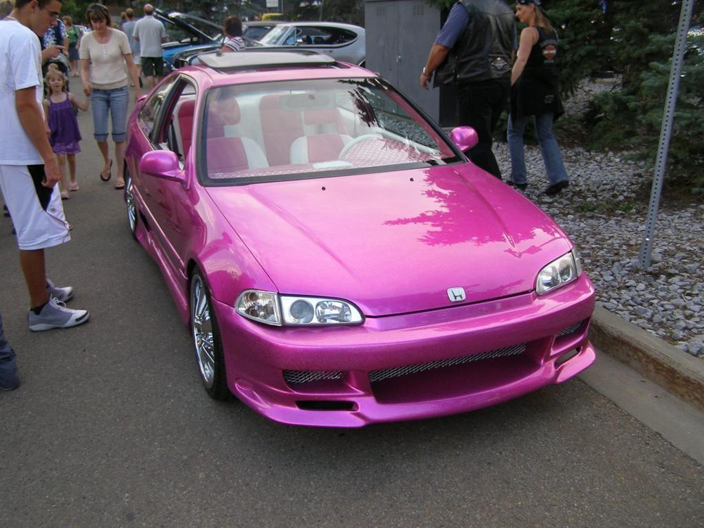 Pink Honda 3 This Is It Babyyyy Honda Honda Civic Cute Cars