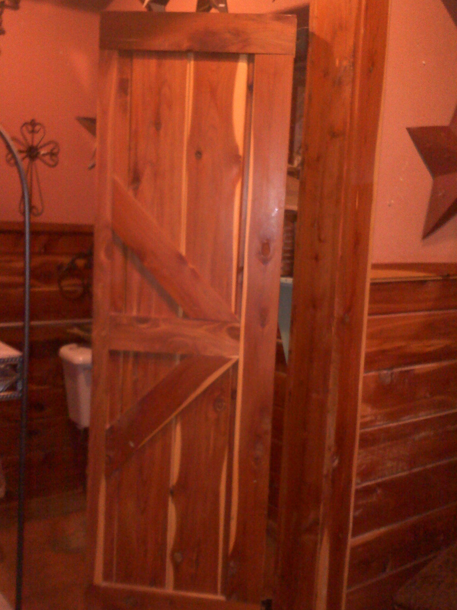 Cedar Saloon Doors For The Bathroom Now This Would Be