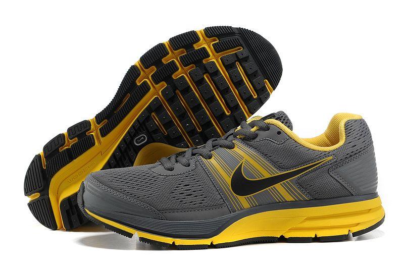 reputable site 1df40 88b3b Nike Air Pegasus 29 Grey Yellow Mens Shoes
