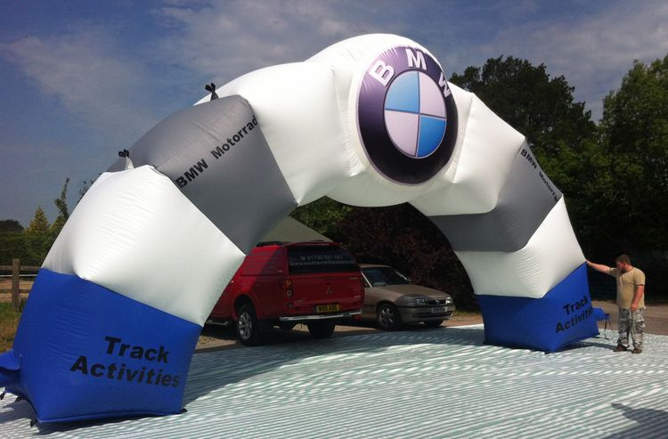 Bmw inflatable arch with images bmw motorrad