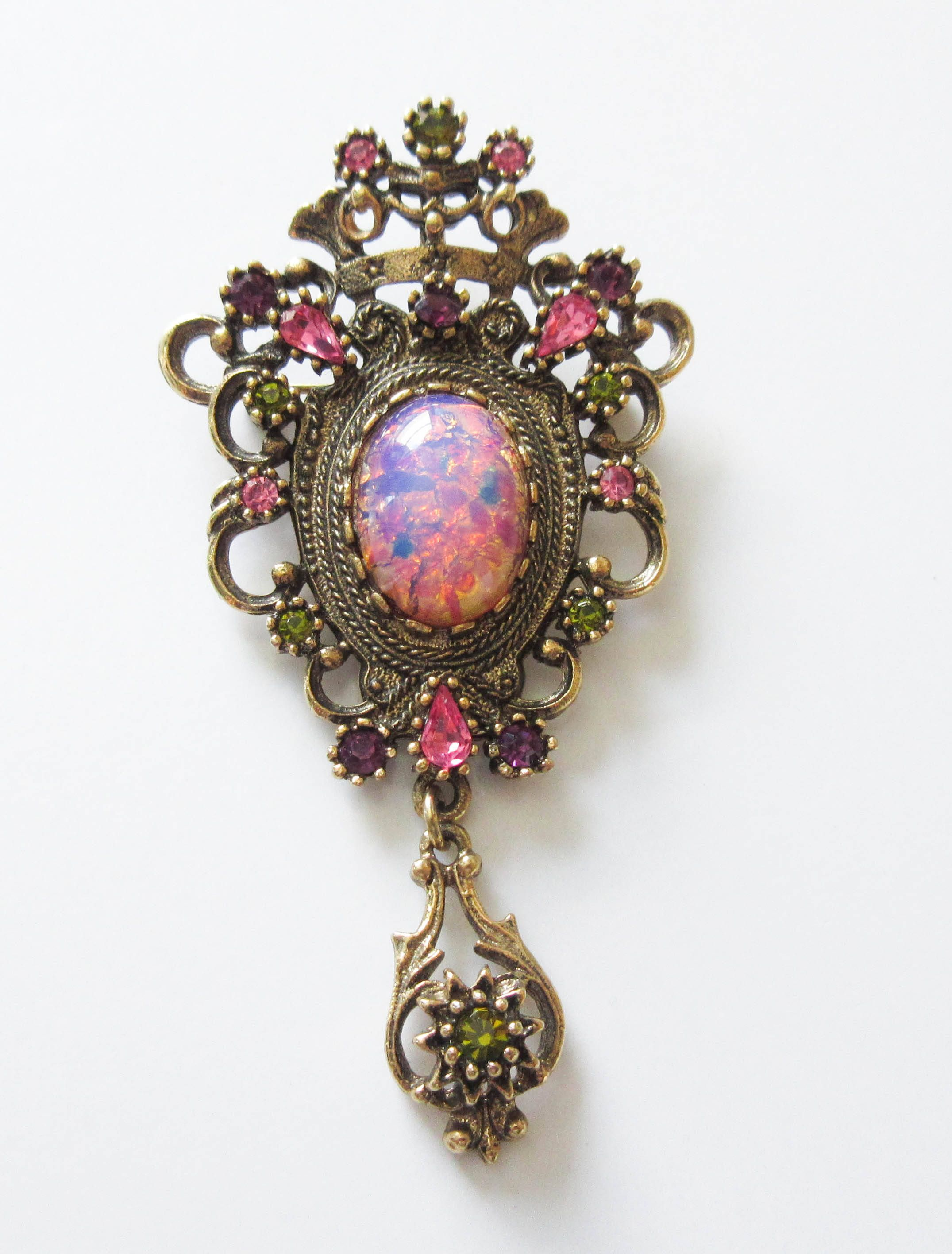Sarah coventry contessa brooch pin pendant rhinestones faux opal sarah coventry contessa brooch pin pendant rhinestones faux opal pink and purple by artsix on etsy aloadofball Choice Image