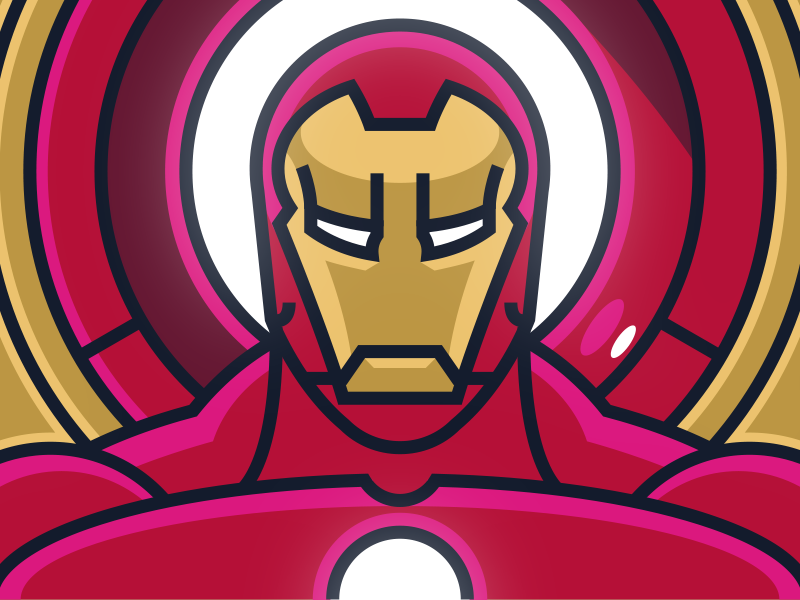 "byway:  ""This great Iron Man design was created by  Fraser Davidson for the London based Cub Studio (of which he is a founding partner) and you can find more of his work at dribbble.com/fraserdavidson and dribbble.com/cubstudio!  """