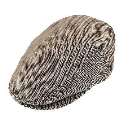 b937076ab61 Jaxon herringbone  brown flat cap 1920s  1930s  peaky blinders style flat  cap hat