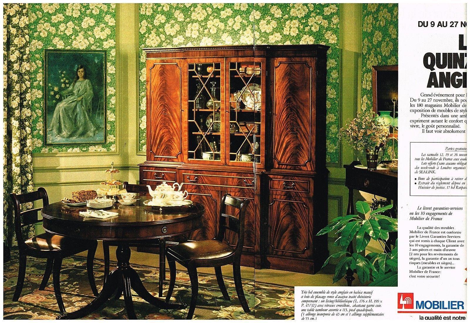publicit advertising 1977 2 pages meubles mobilier de france for sale eur 5 00 see photos. Black Bedroom Furniture Sets. Home Design Ideas