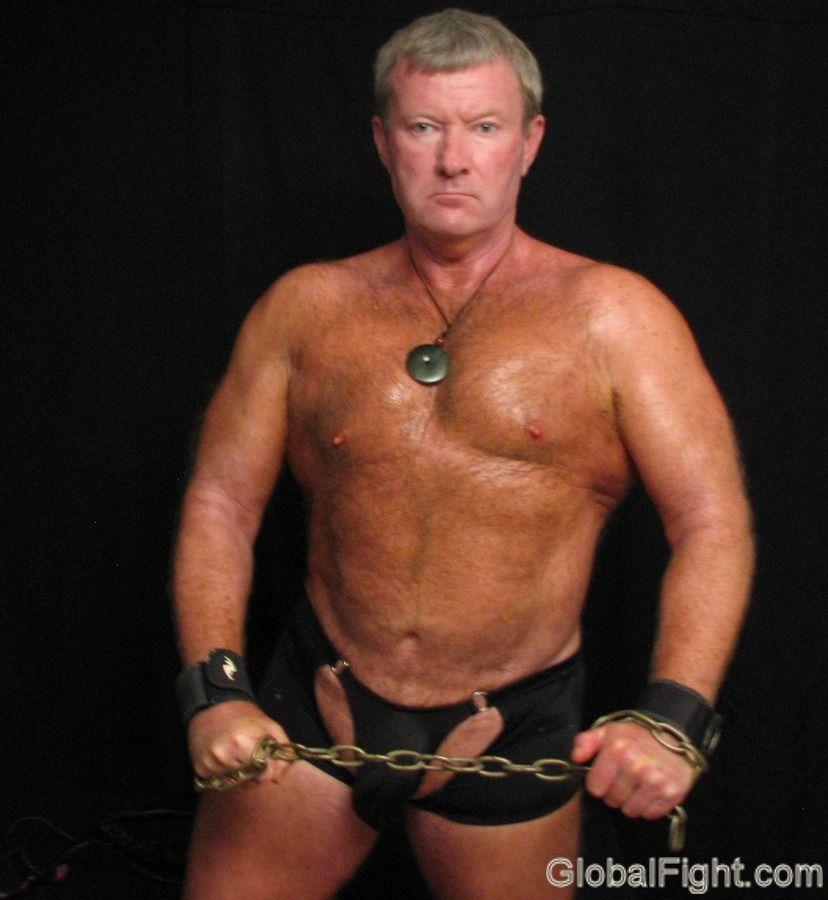 Mature men in bondage