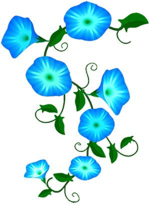 flower vines clip art animated blue flowers flower clipart rh pinterest co uk blue hibiscus flower clipart blue flower border clipart