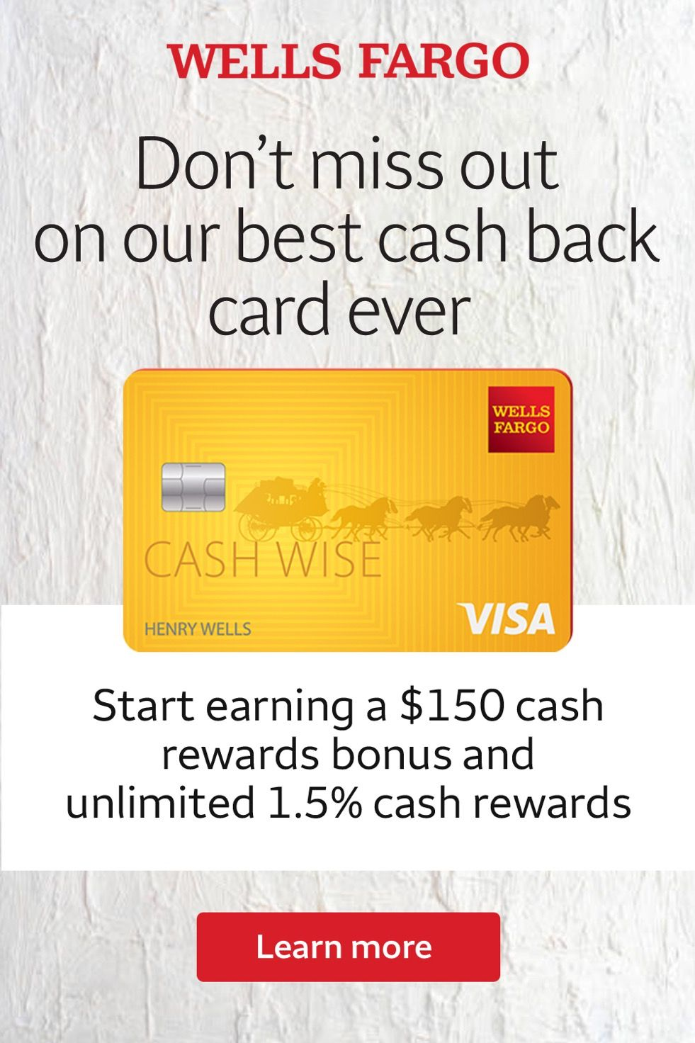 Apply For And Use Your Wells Fargo Cash Wise Visa Card On