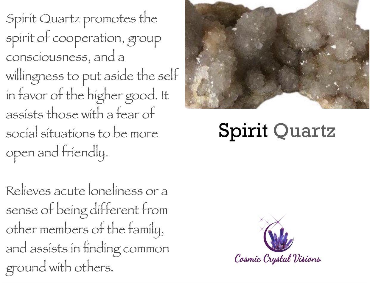 Spirit Quartz Crystal Meaning   Spirit quartz, Crystal ... Quartz Crystal Spiritual Meaning