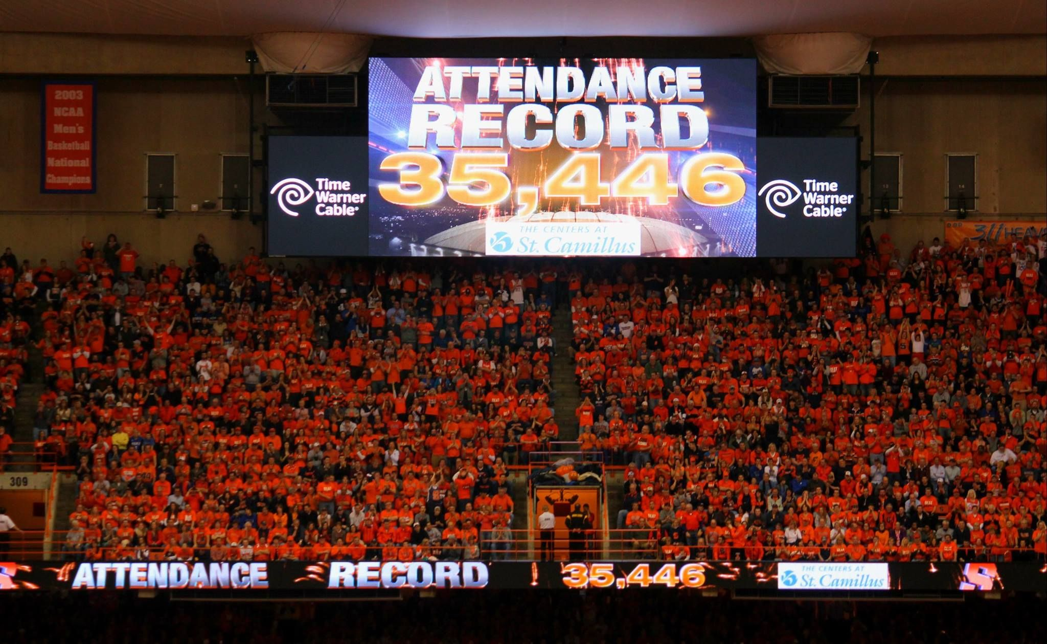 Record setting attendance at the SU/Duke game 2/1/14