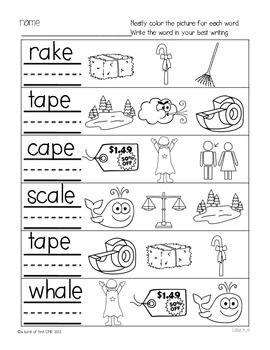 Phonics Printables- Long Vowel a_e Freebie | Best of First Grade ...
