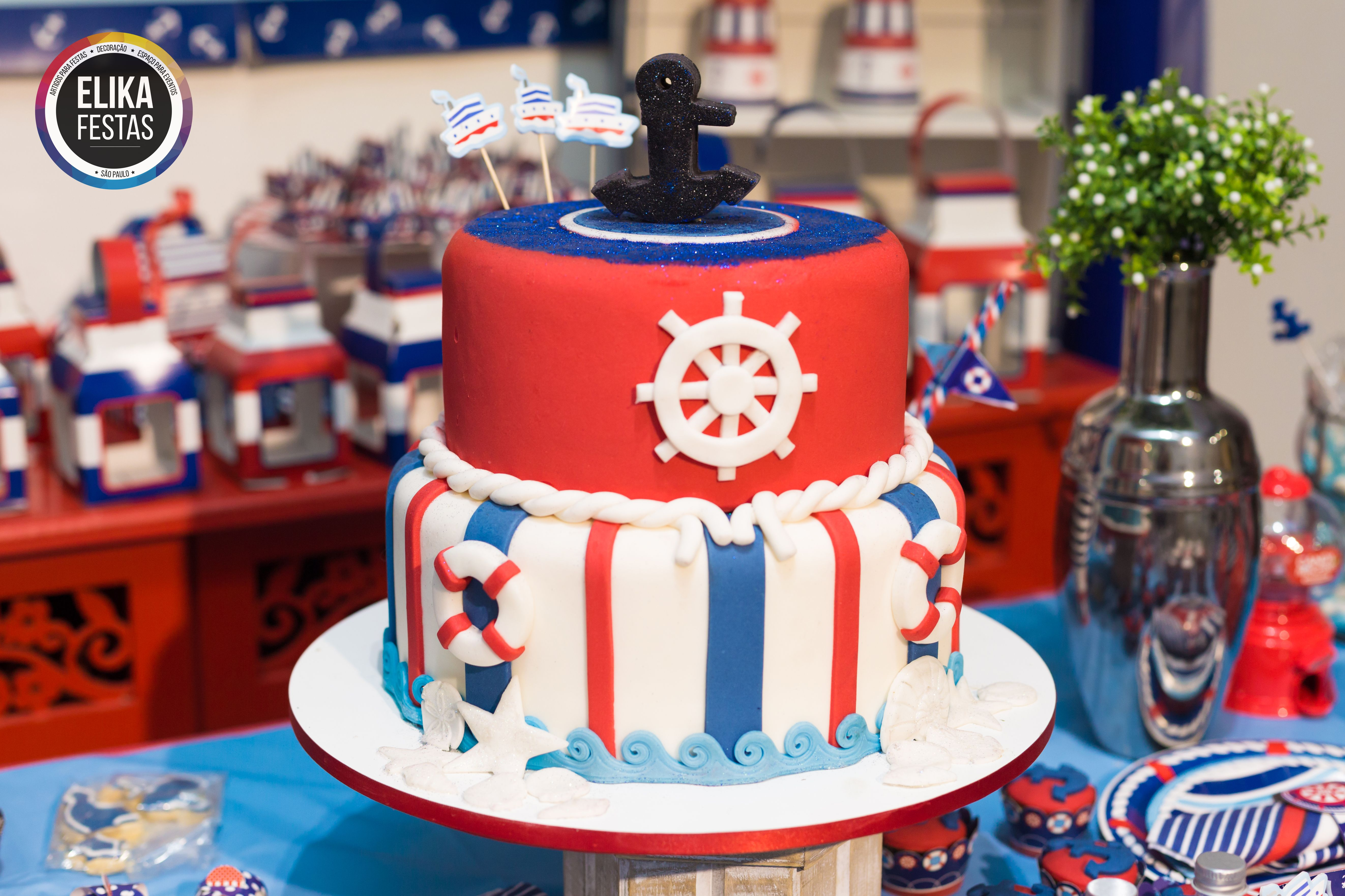 Decoracao fazendinha luxo bolo falso ccs decoracoes eventos car - Detalhe Decora O Para Festa No Tema Navy Marinheiro Linda Op O Para Festa Infantil