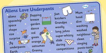 Aliens Love Underpants Word Mat Text Aliens Love Underpants Word Mat Word Mat Text Text Mat Themed Word Mat Key Words Keywords Key Word Mat Mat