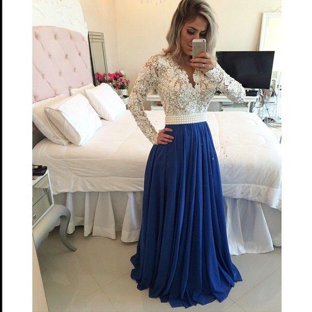 Vestido longo com manga aliexpress