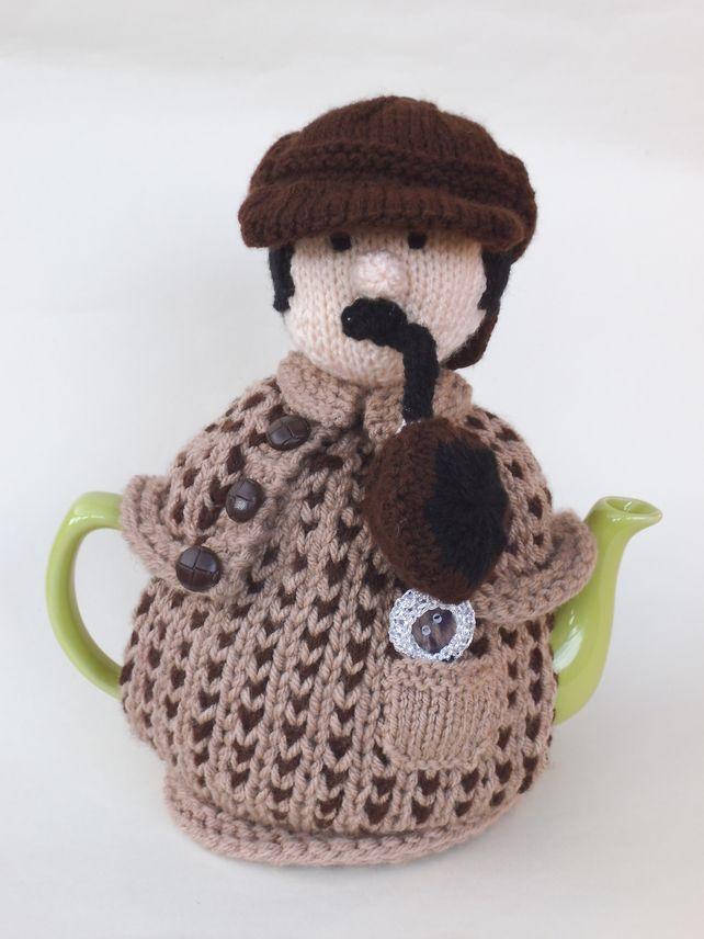 Ready Knitted Sherlock Holmes Tea Cosy £25.95   Tea cosies   Pinterest