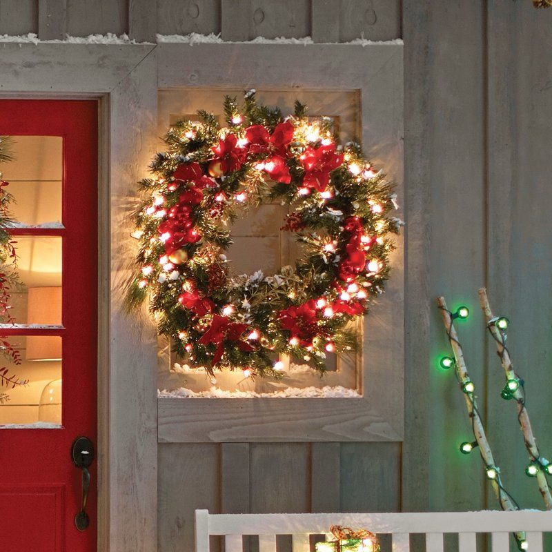 36 Faux Homespun Indoor Outdoor Wreath Pre Lit Click On The Image To Affordable Christmas Decorations Christmas Decorations Wreaths Pre Lit Christmas Wreaths