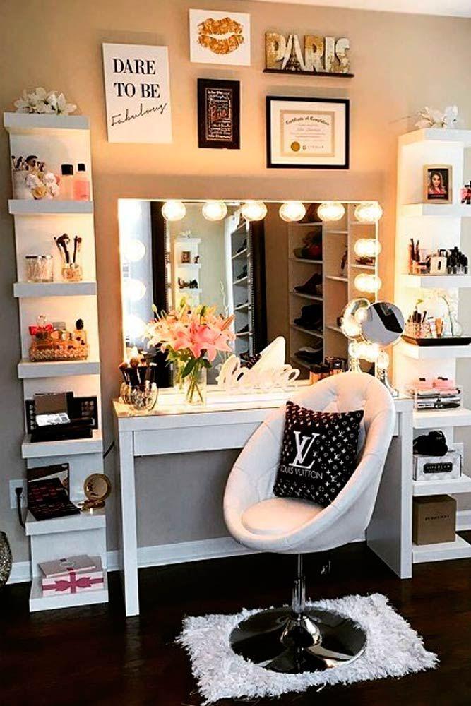 33 Most Popular Makeup Vanity Table Designs 2018 Room decor