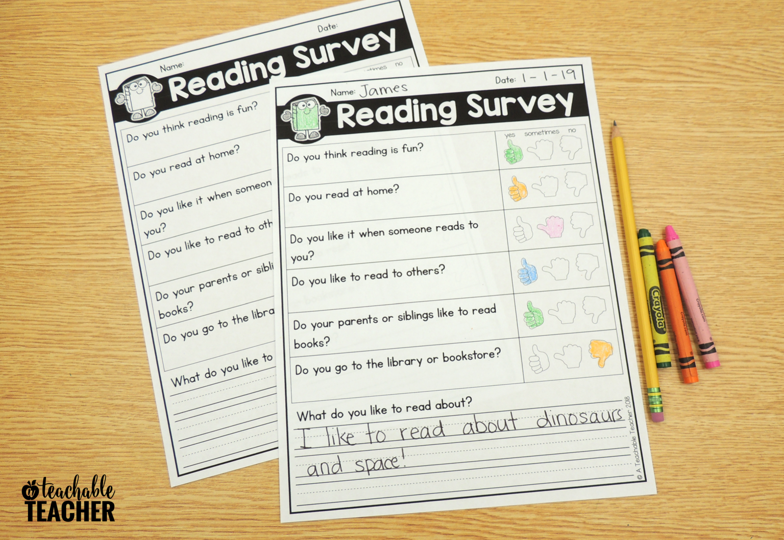 Free Reading Interest Survey For Elementary Students