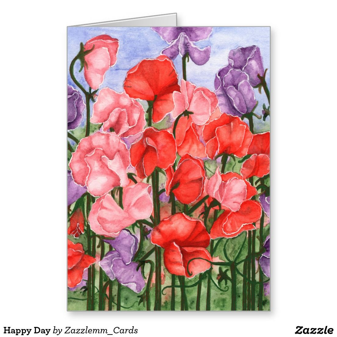 Happy Day Greeting Card My Zazzle Store Pinterest