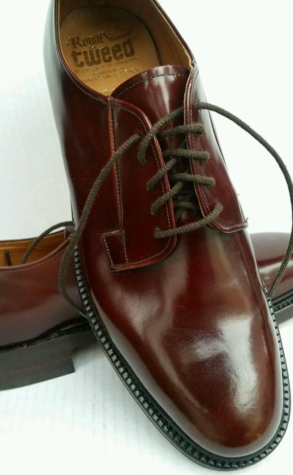 6cf6d3ccb2a Church s Royal Tweed Shell Cordovan Oxblood Oxford Men s Shoes Sz 10 ...