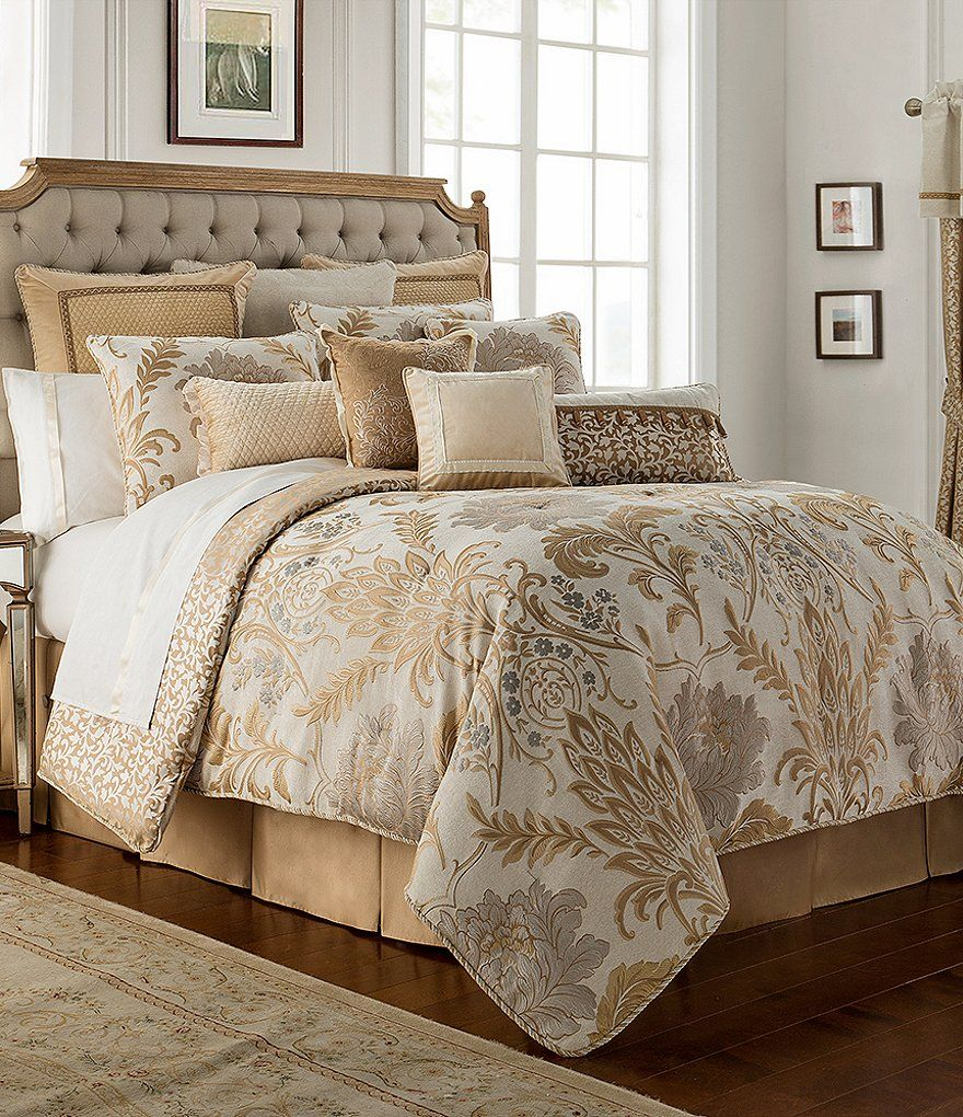 Waterford Ansonia Floral Jacquard Comforter Set in 2019
