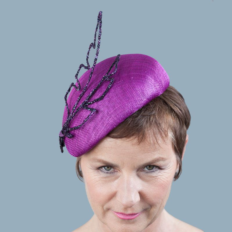b4a72cea Claire beret headpiece with stylised feather trim Joanna Zara Millinery  £295.00 A stylish perching beret