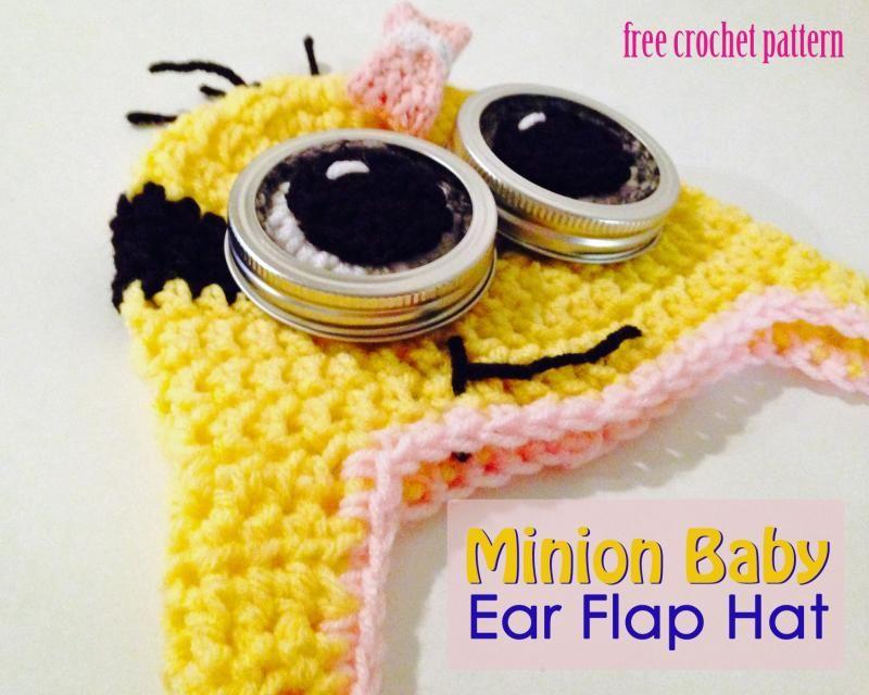Little Minion Earflap Hat | aaltje.gawlik | Pinterest | Tejido