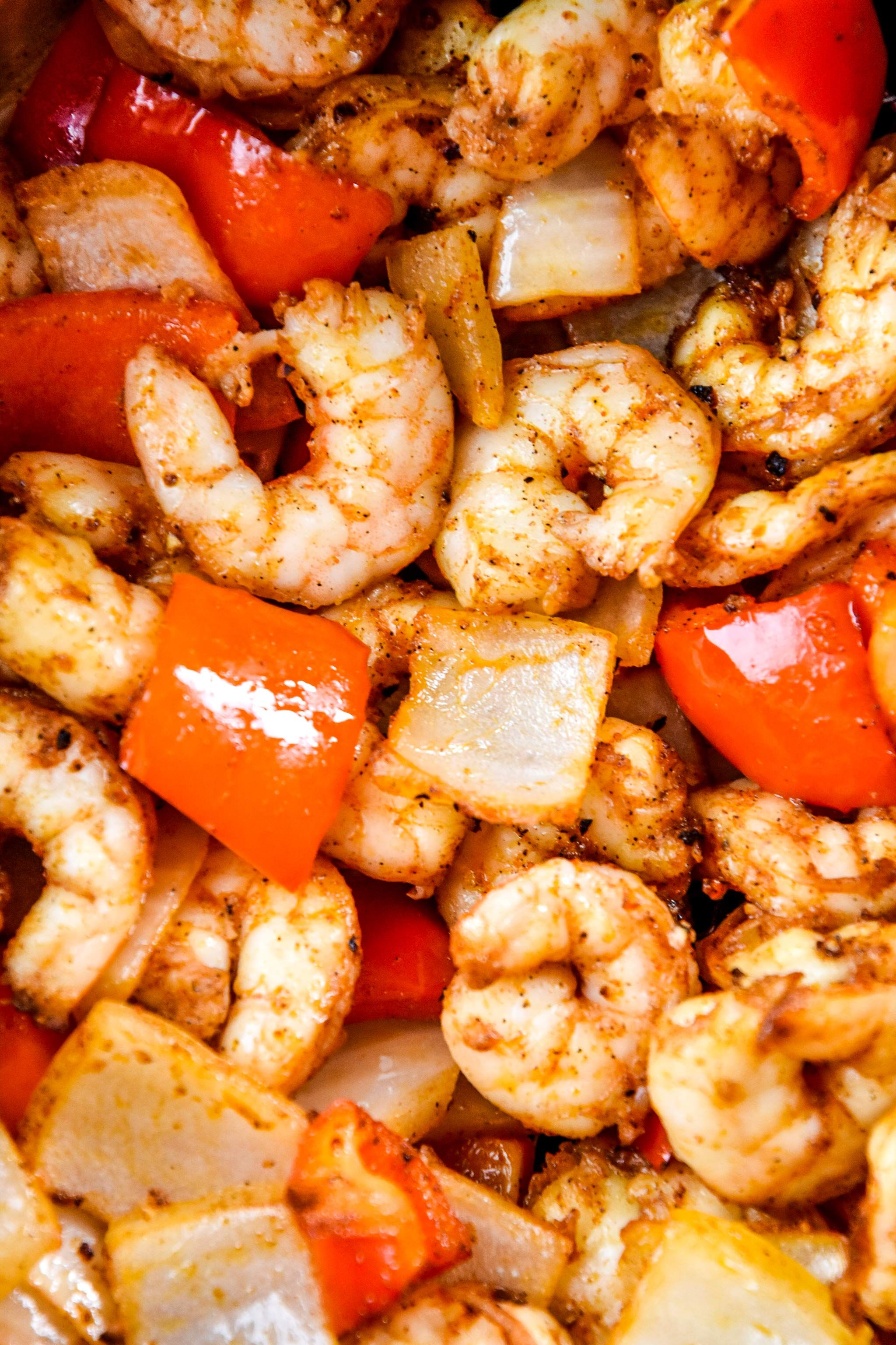 Easy Air Fryer Shrimp & Vegetables Recipe Cooking raw