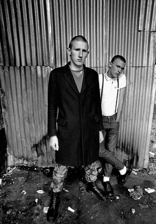 Skinheads, Hoxton, London by Syd Shelton, 1980  via