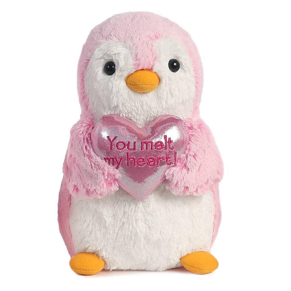 9 Aurora Plush Pink Penguin You Melt My Heart Valentine