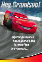 Cars Birthday Card for Son Featuring Lightning McQueen