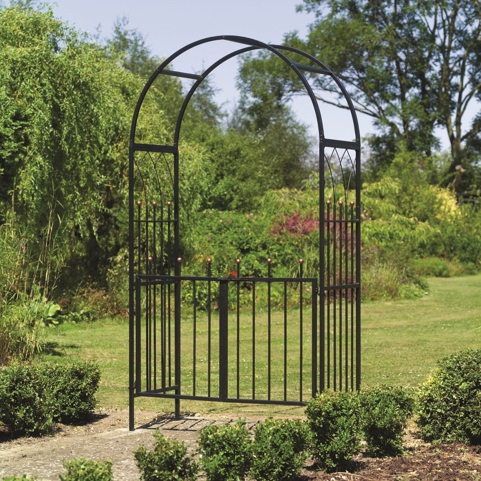 Westminster Metal Garden Arch And Gates Arches With Gate Way Ebay