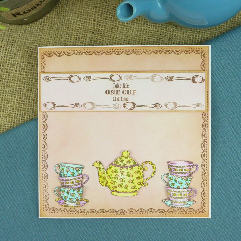 One cup at a time. From the Sweetest Tea Party set.